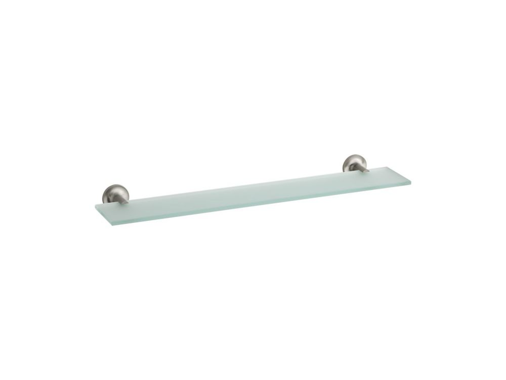 Purist Glass Shelf in Vibrant Brushed Nickel