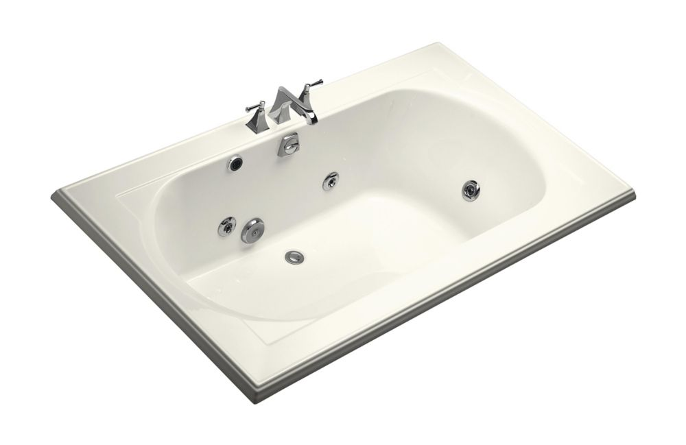 KOHLER Memoirs 6 Feet Whirlpool Bathtub in Biscuit