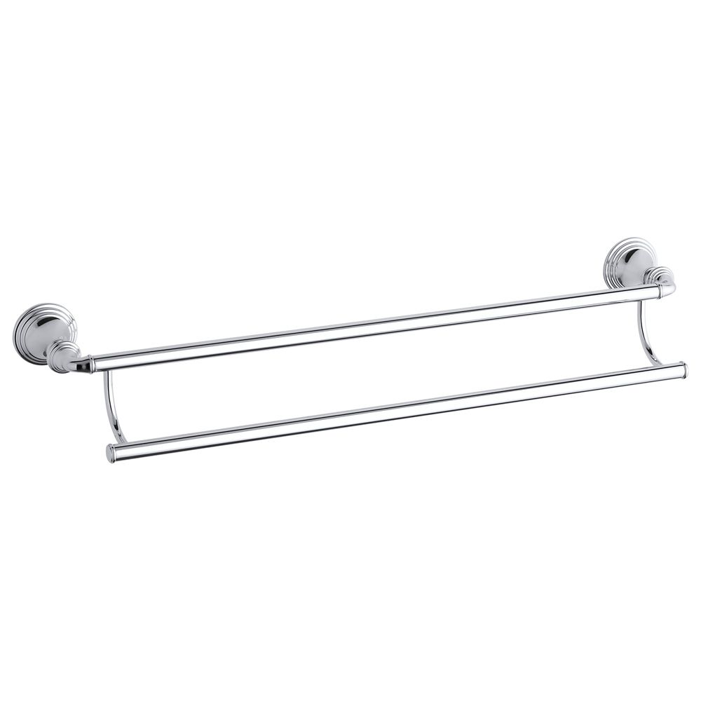Devonshire 24 Inch Double Towel Bar in Polished Chrome