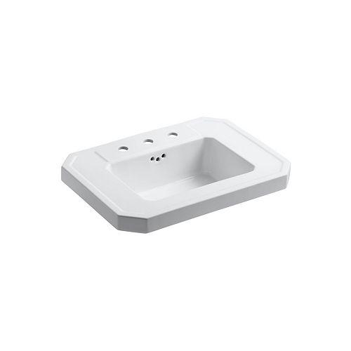 KOHLER Kathryn(R) bathroom sink basin with 8 inch widespread faucet holes