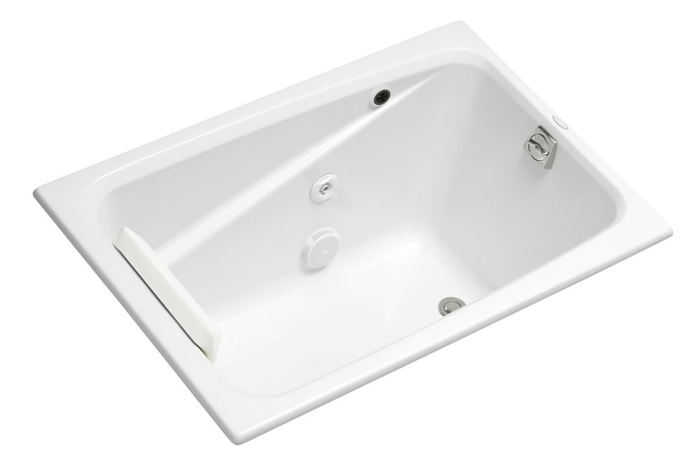KOHLER Greek 4 Feet Whirlpool Bathtub in White