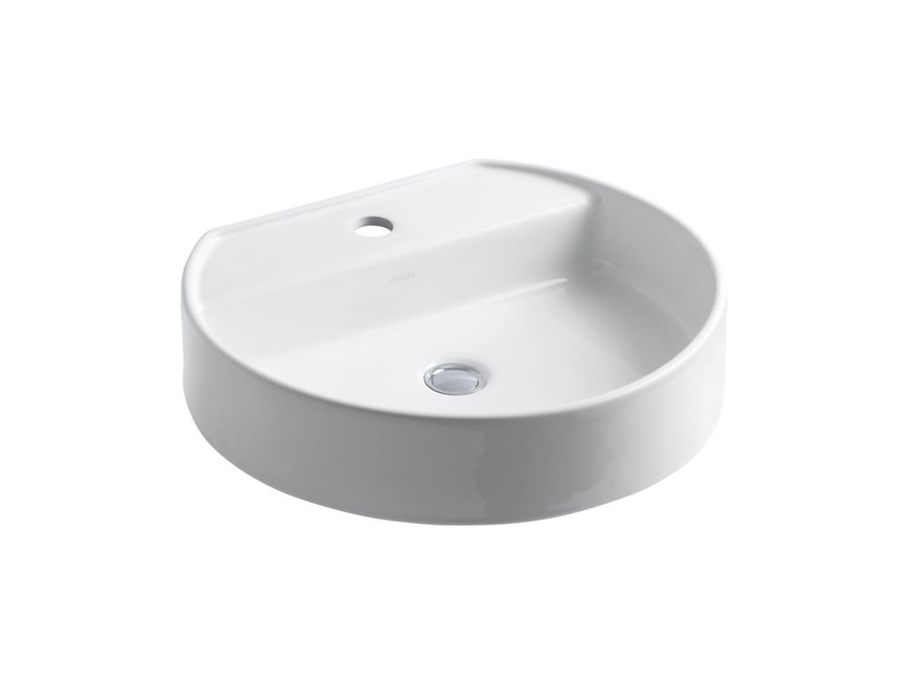 Chord Wading Pool Vessel Sink in White