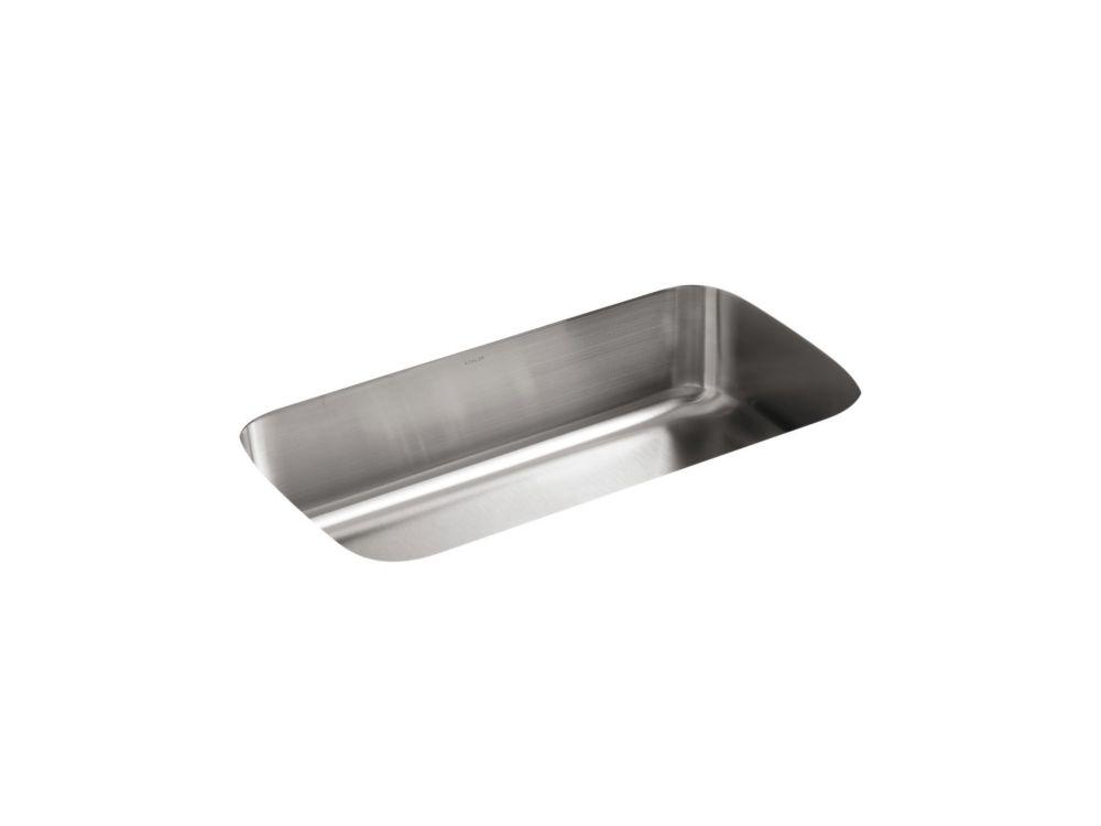 Évier de cuisine sous comptoir extra-large Undertone(R) avec bassin de 7-5/8 po de profondeur