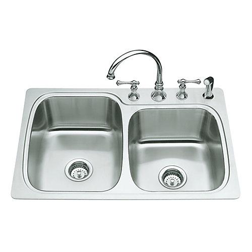 Verse(Tm) Large/Medium Self-Rimming Kitchen Sink