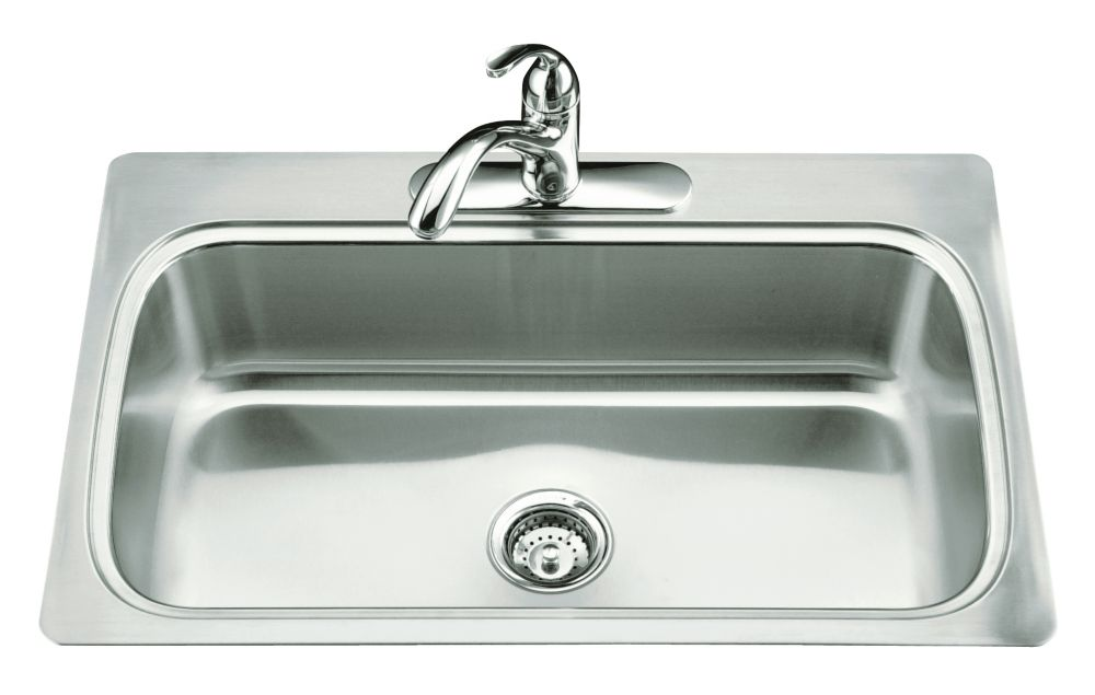 Verse(Tm) Single-Basin Self-Rimming Kitchen Sink