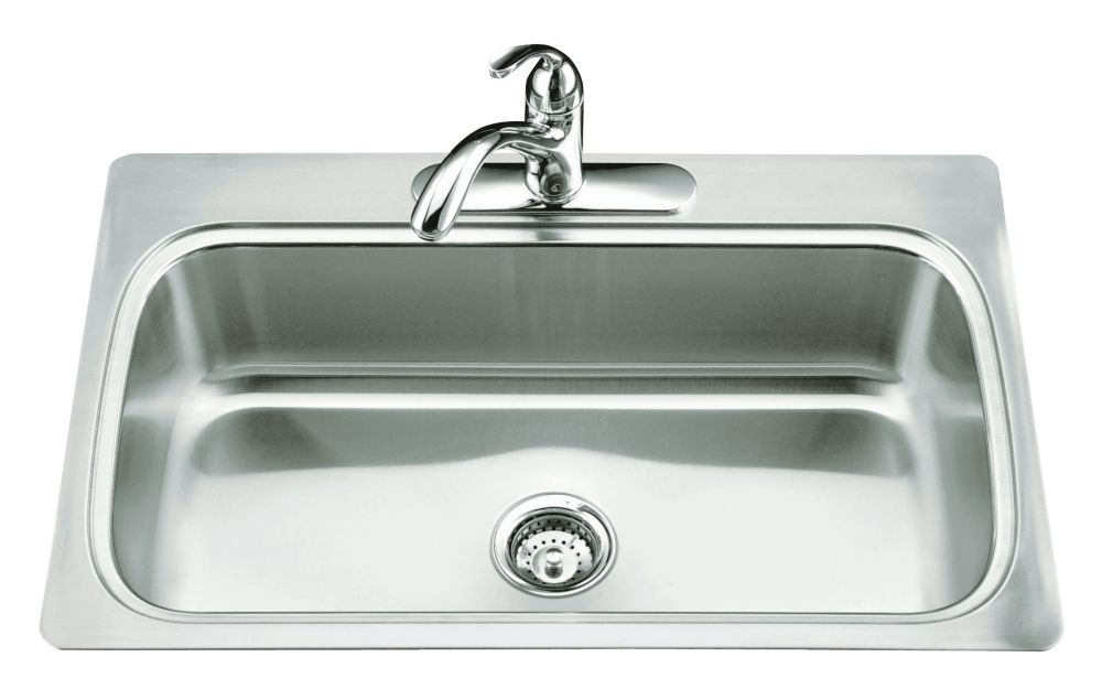 Kitchen Sink Discount : ... Tm) Single-Basin Self-Rimming Kitchen Sink K-3373-3-NA Canada Discount