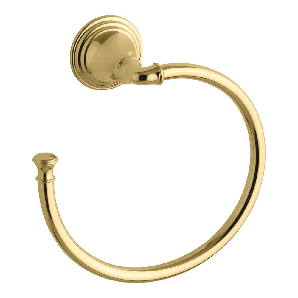 KOHLER Devonshire Towel Ring in Vibrant Polished Brass