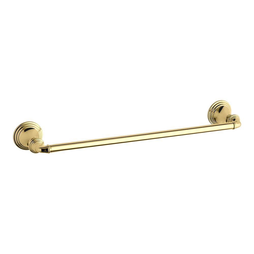 Devonshire 18 Inch Towel Bar in Vibrant Polished Brass