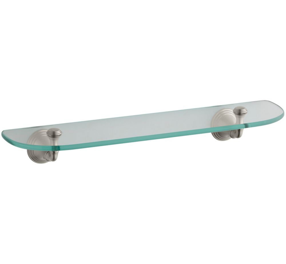 Devonshire Glass Shelf in Vibrant Brushed Nickel