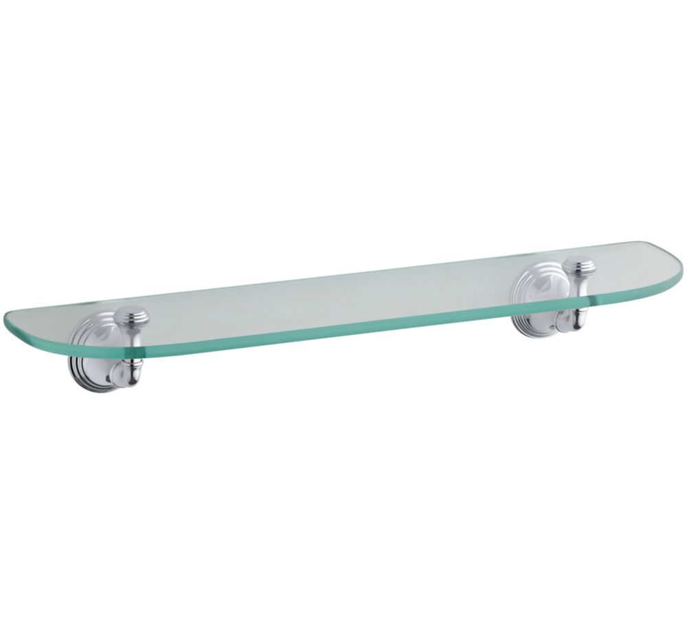 Devonshire Glass Shelf in Polished Chrome