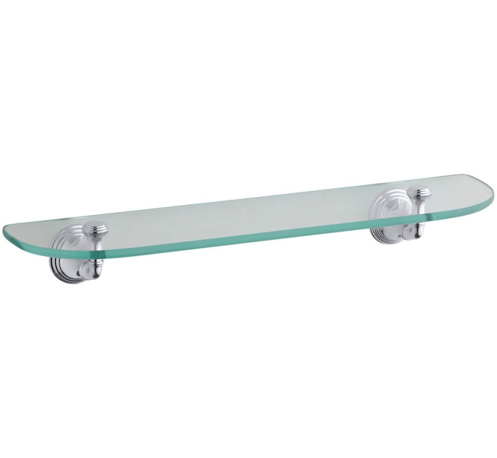 Brushed Nickel Bathroom Shelving Unit: Kraus Aura Bathroom Accessories