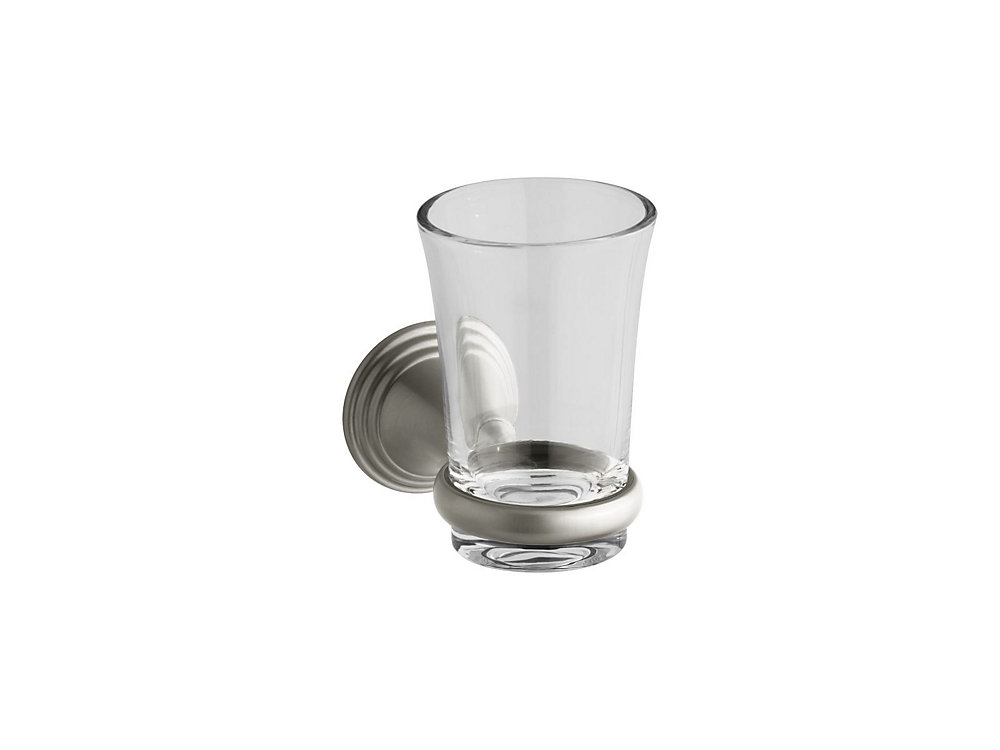 Devonshire Tumbler And Holder in Vibrant Brushed Nickel