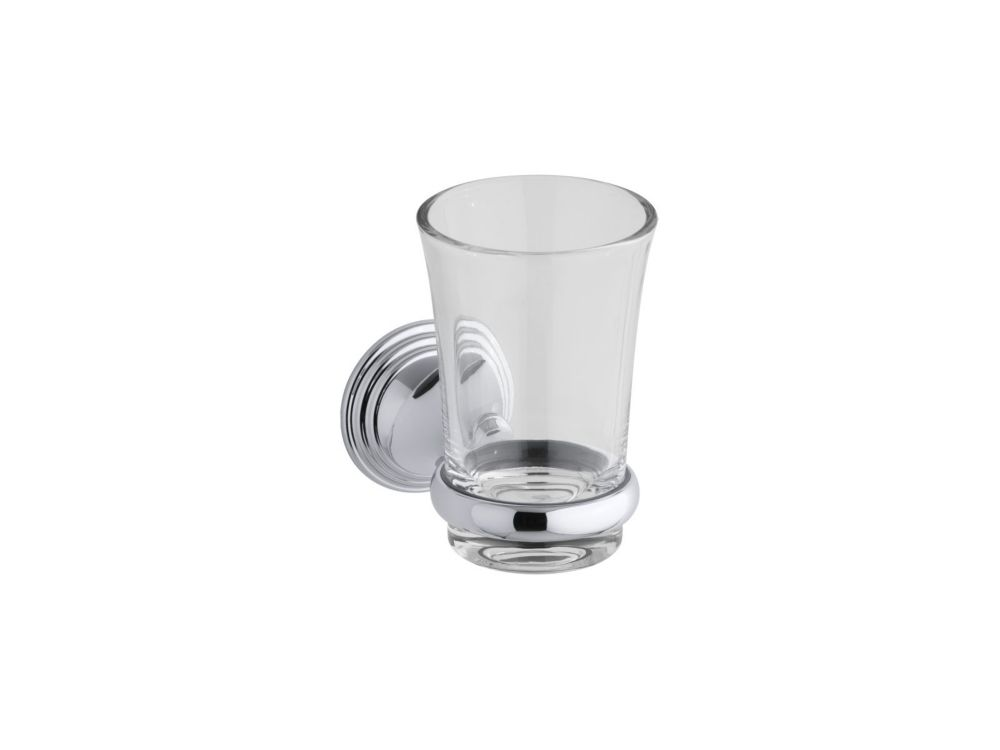 Devonshire Tumbler And Holder in Polished Chrome