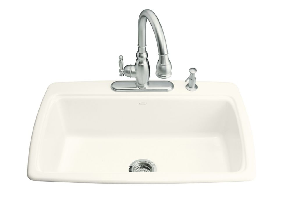 Cape Dory Self-Rimming Kitchen Sink in Biscuit