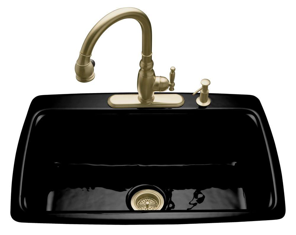Cape Dory Self-Rimming Kitchen Sink in Black Black