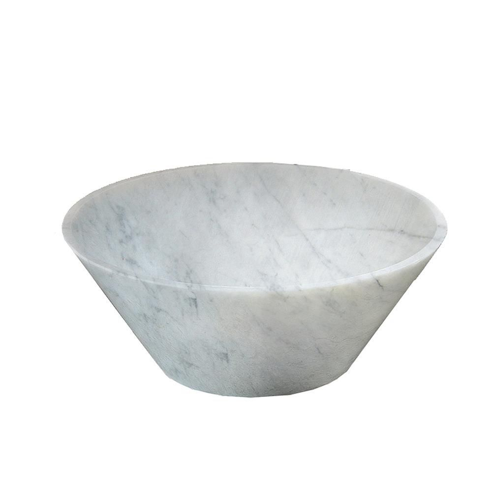 Vasque ronde en marbre de Carrare naturel