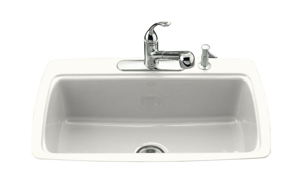 Cape Dory Tile-in Kitchen Sink in White