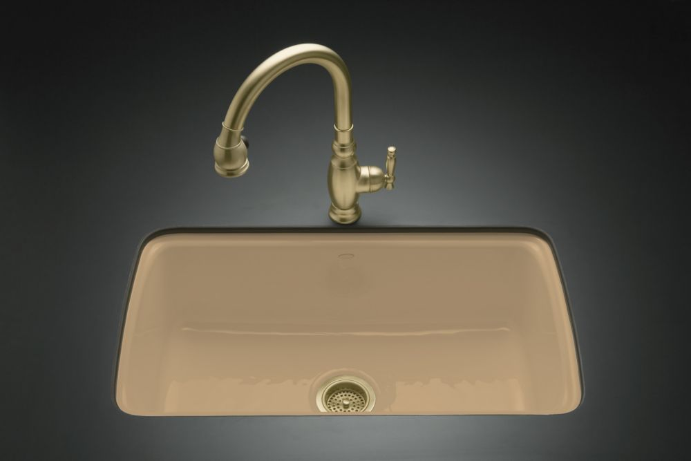 KOHLER Cape Dory Undercounter Kitchen Sink in Mexican Sand