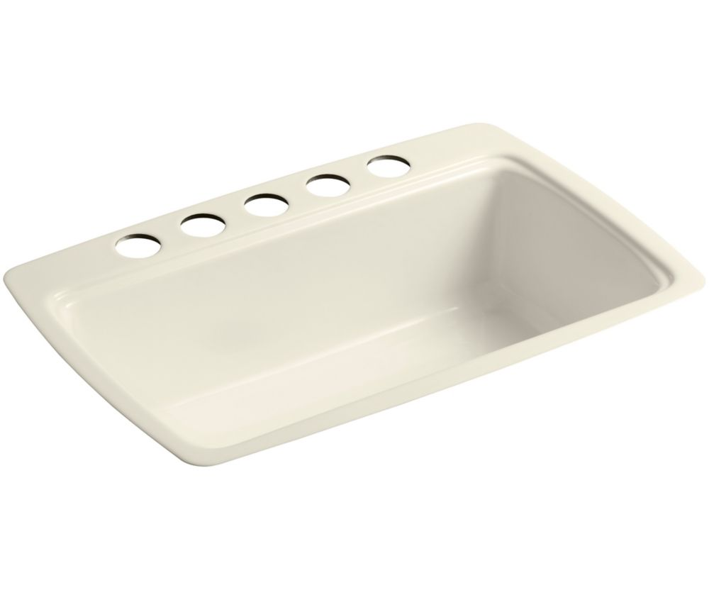 Cape Dory Undercounter Kitchen Sink in Almond