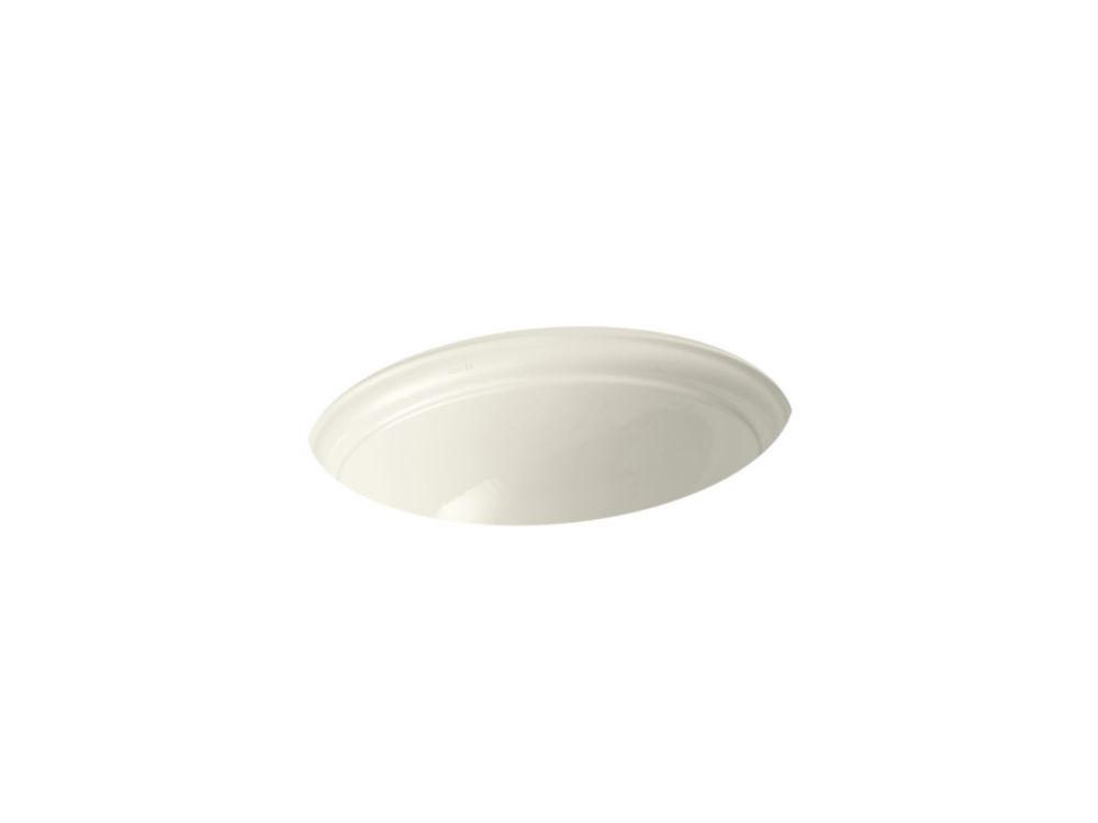 Devonshire 18-inch Undercounter Bathroom Sink in Biscuit