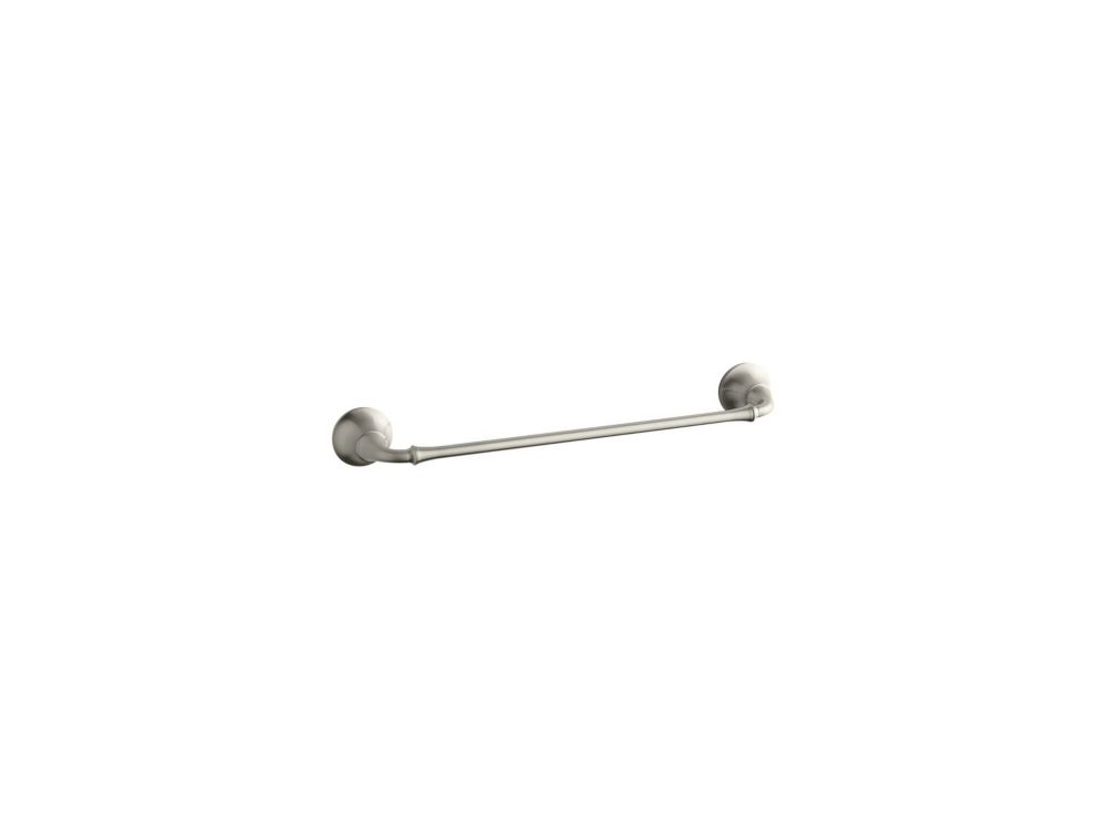 Forté Traditional 18 Inch Towel Bar in Vibrant Brushed Nickel
