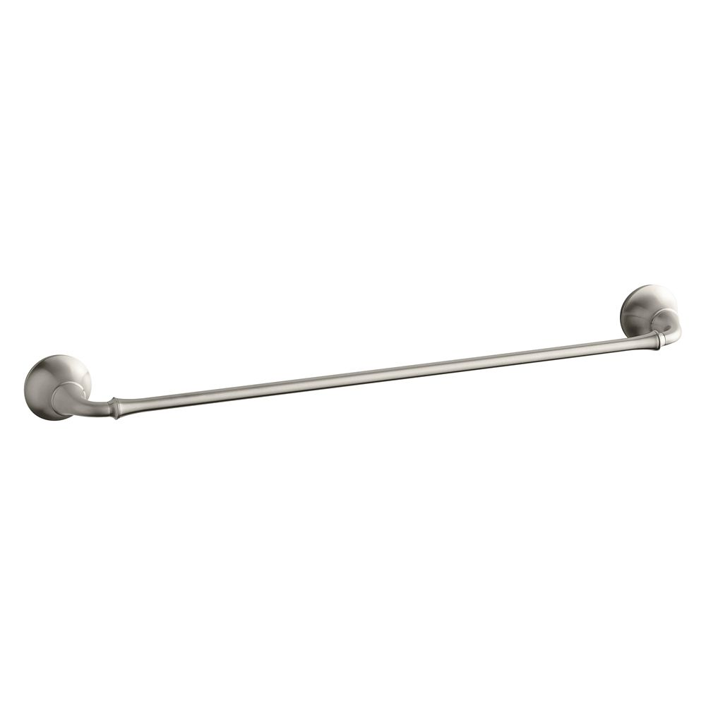 Fort Traditional 24 Inch Towel Bar in Vibrant Brushed Nickel K-11271-BN Canada Discount