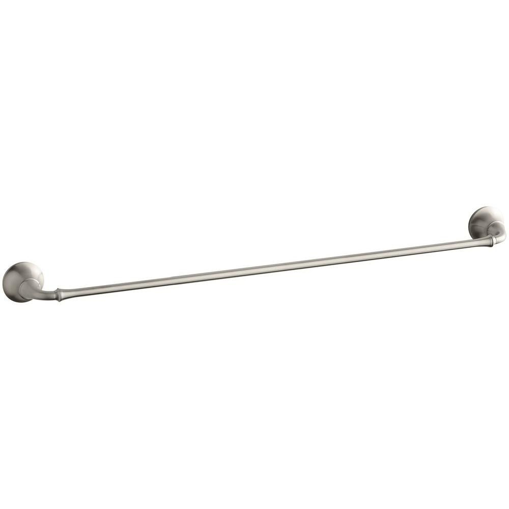 Forté Traditional 30 Inch Towel Bar in Vibrant Brushed Nickel