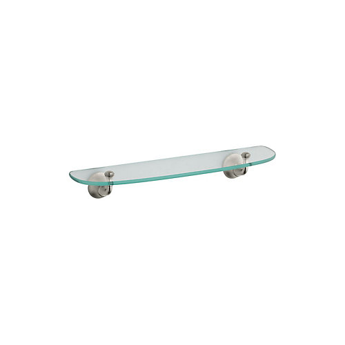 Forté Glass Shelf in Vibrant Brushed Nickel