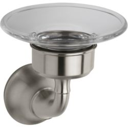 KOHLER Forté Traditional Soap Dish in Vibrant Brushed Nickel