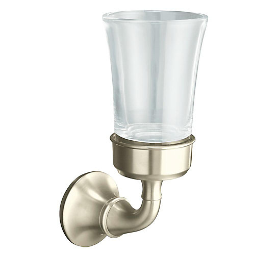 Forté Traditional Tumbler And Holder in Vibrant Brushed Nickel