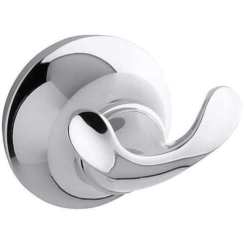 Forté Sculpted Robe Hook in Polished Chrome