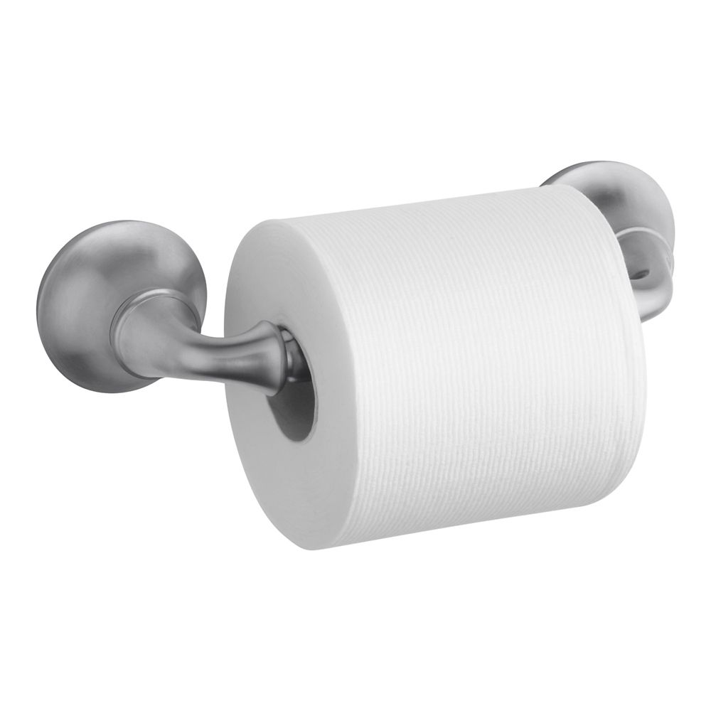 Forté Sculpted Toilet Tissue Holder in Brushed Chrome