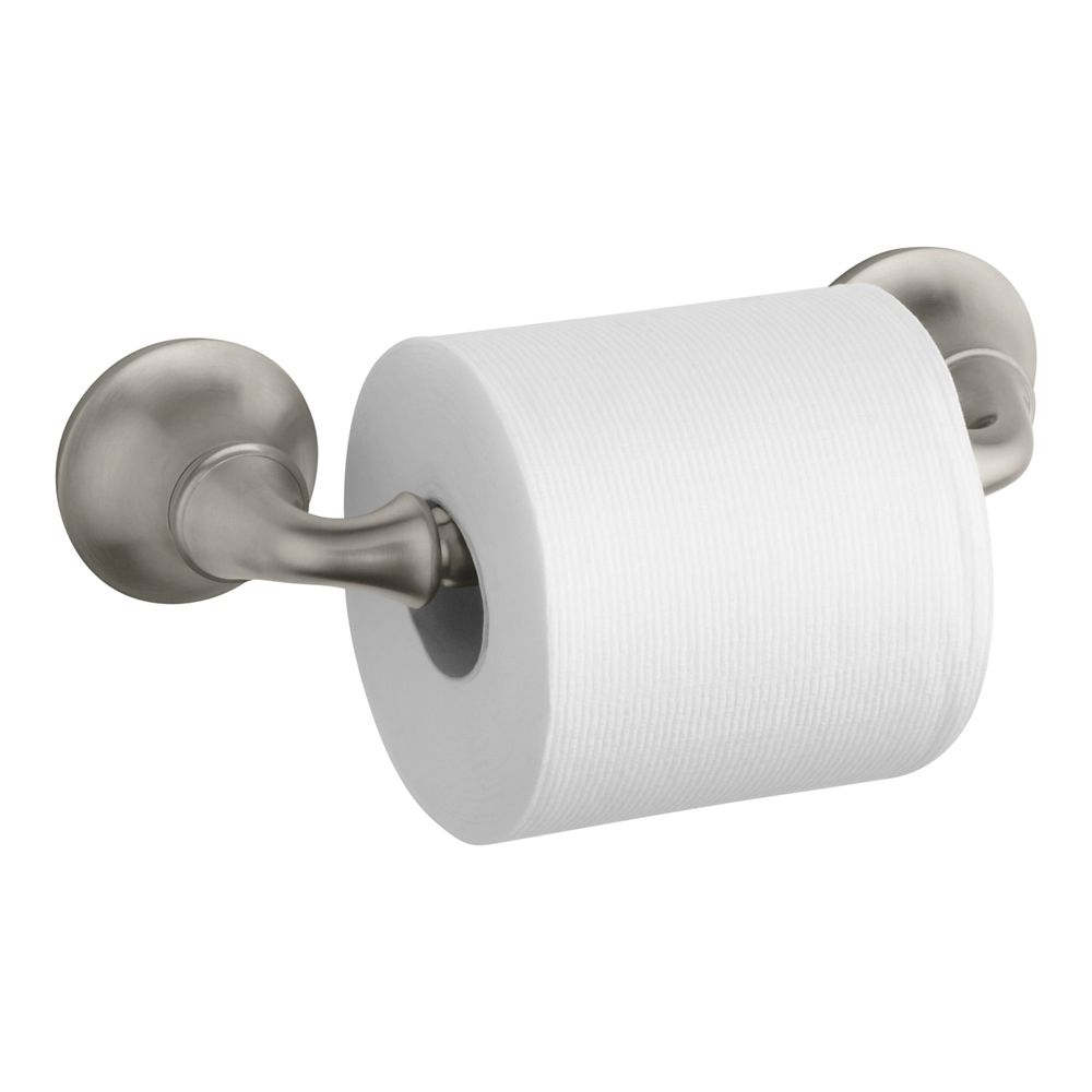 Forté Sculpted Toilet Tissue Holder in Vibrant Brushed Nickel
