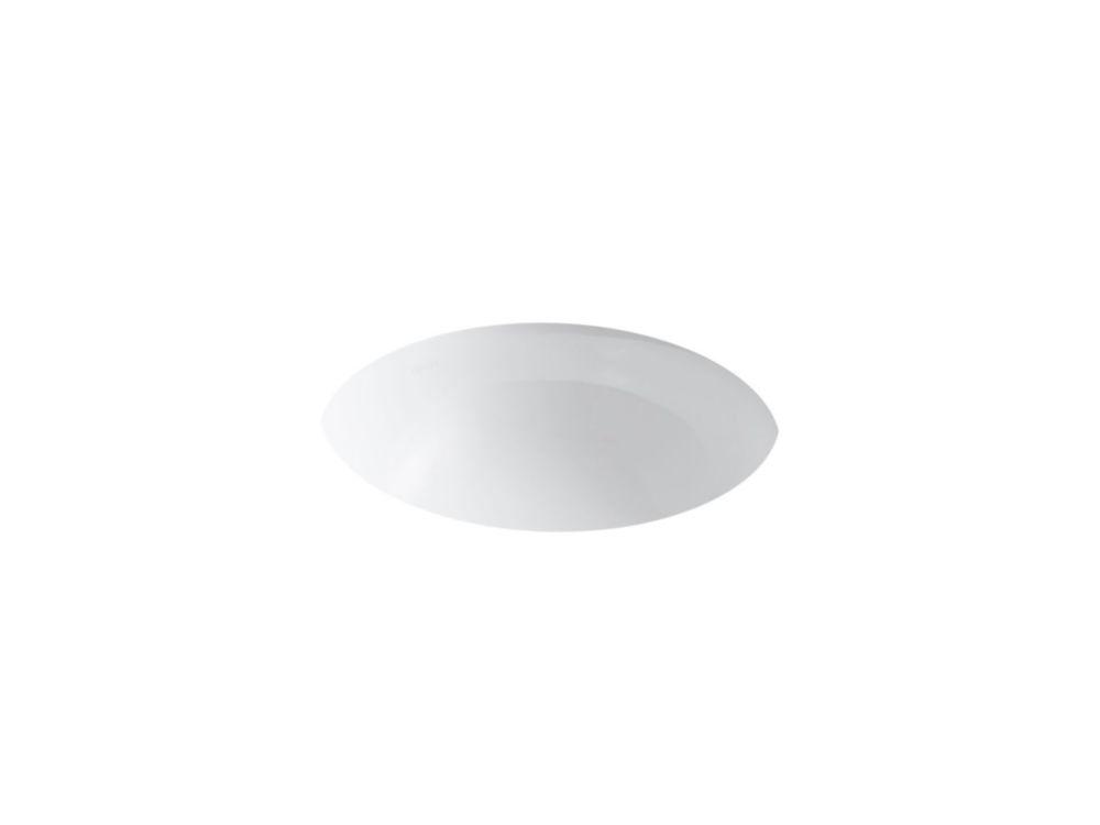 Camber Undercounter Bathroom Sink in White