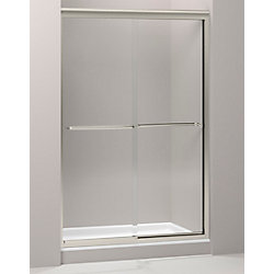 KOHLER Fluence 47-5/8-inch x 70-5/16-inch Semi-Frameless Sliding Shower Door in Matte Nickel with Handle