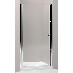kohler porte de douche pivot sans cadre fluence tm avec verre en crystal clair 31 1 4 po 32. Black Bedroom Furniture Sets. Home Design Ideas