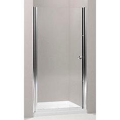 kohler porte de douche pivot sans cadre fluence tm avec verre en crystal clair 37 1 2 po 39. Black Bedroom Furniture Sets. Home Design Ideas