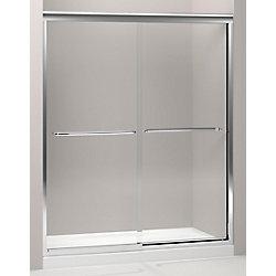 KOHLER Fluence Frameless Bypass Shower Door in Bright Polished Silver