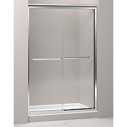 KOHLER Fluence 47-5/8-inch x 70-5/16-inch Semi-Frameless Sliding Shower Door in Polished Silver with Handle