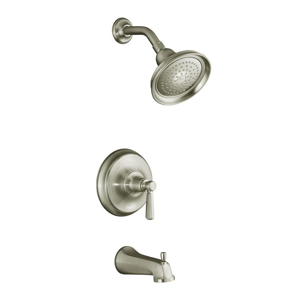 Bancroft Rite-Temp Pressure-Balancing Bath/Shower Faucet in Vibrant Brushed Nickel