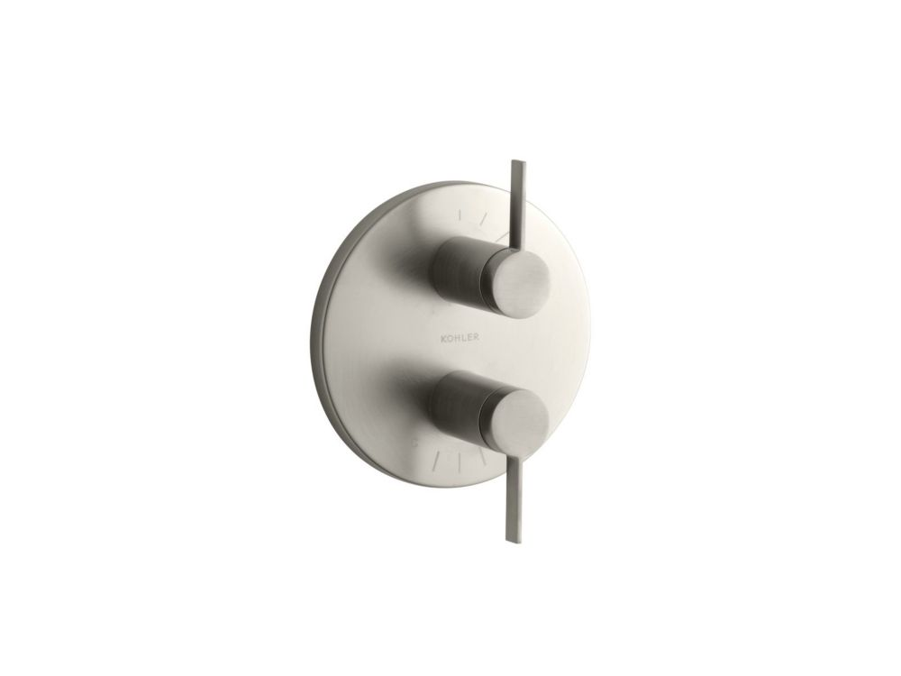 Stillness Stacked Valve Trim, Valve Not Included in Vibrant Brushed Nickel