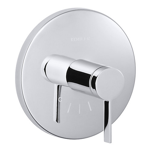 Stillness Thermostatic Valve Trim, Valve Not Included in Polished Chrome