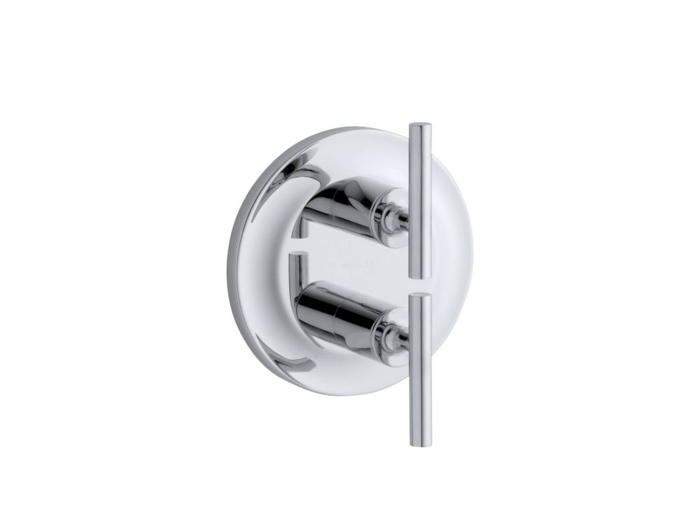 Purist Stacked Valve Trim, Valve Not Included in Polished Chrome
