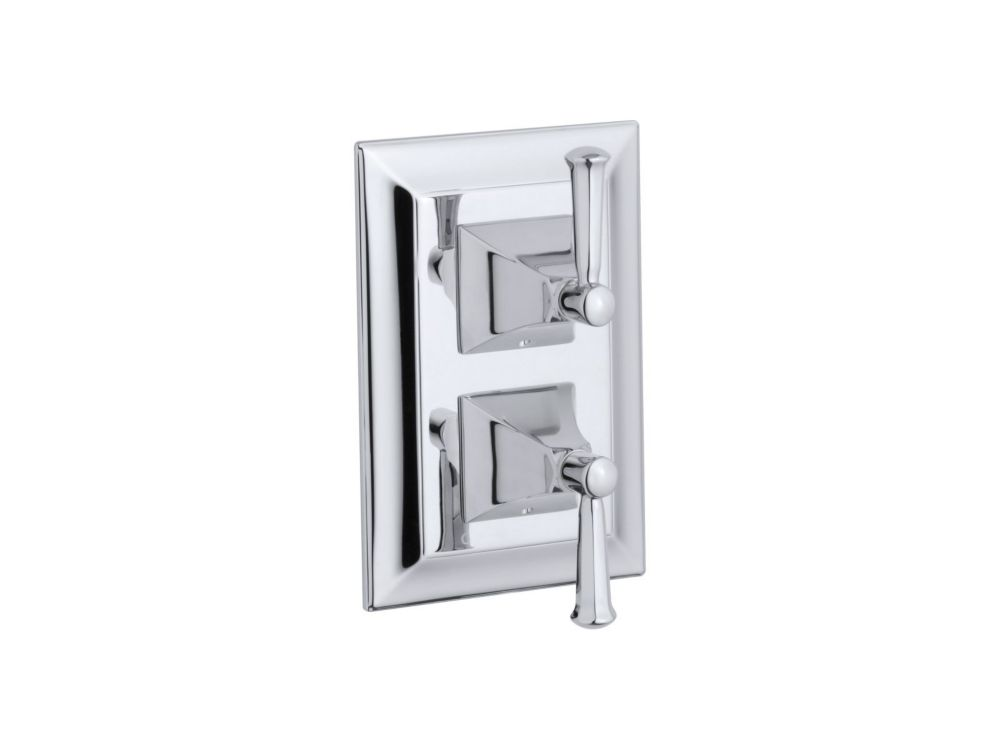 Memoirs Stacked Valve Trim With Stately Design, Valve Not Included in Polished Chrome