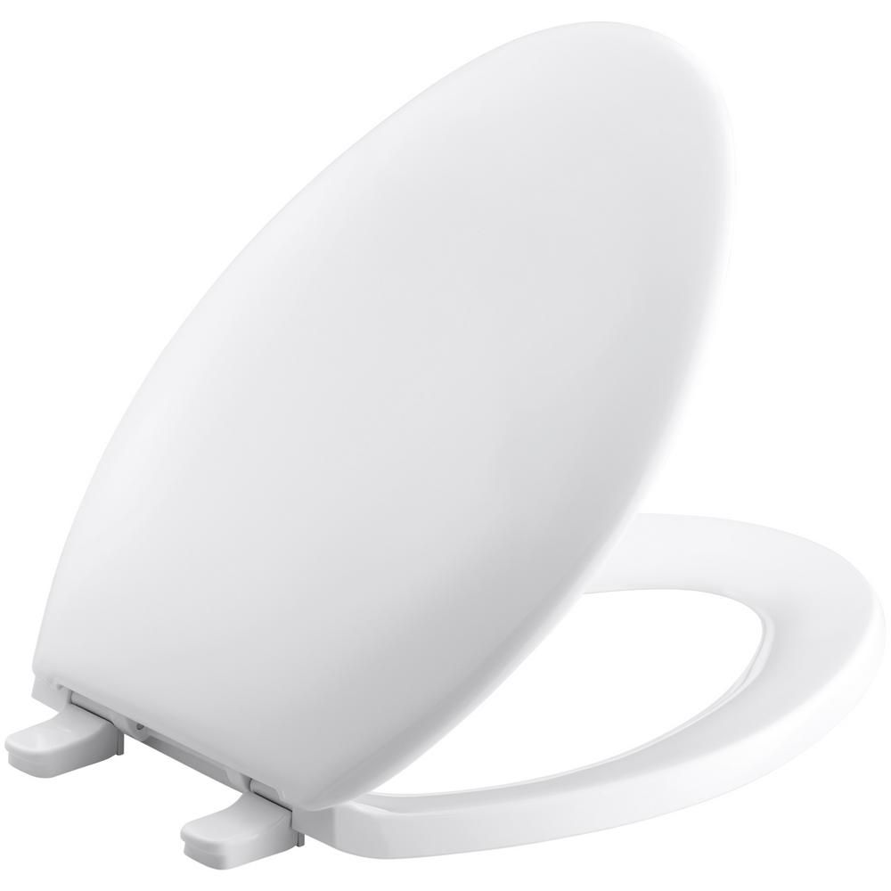 Bancroft Elongated Toilet Seat in White K-4659-0 Canada Discount