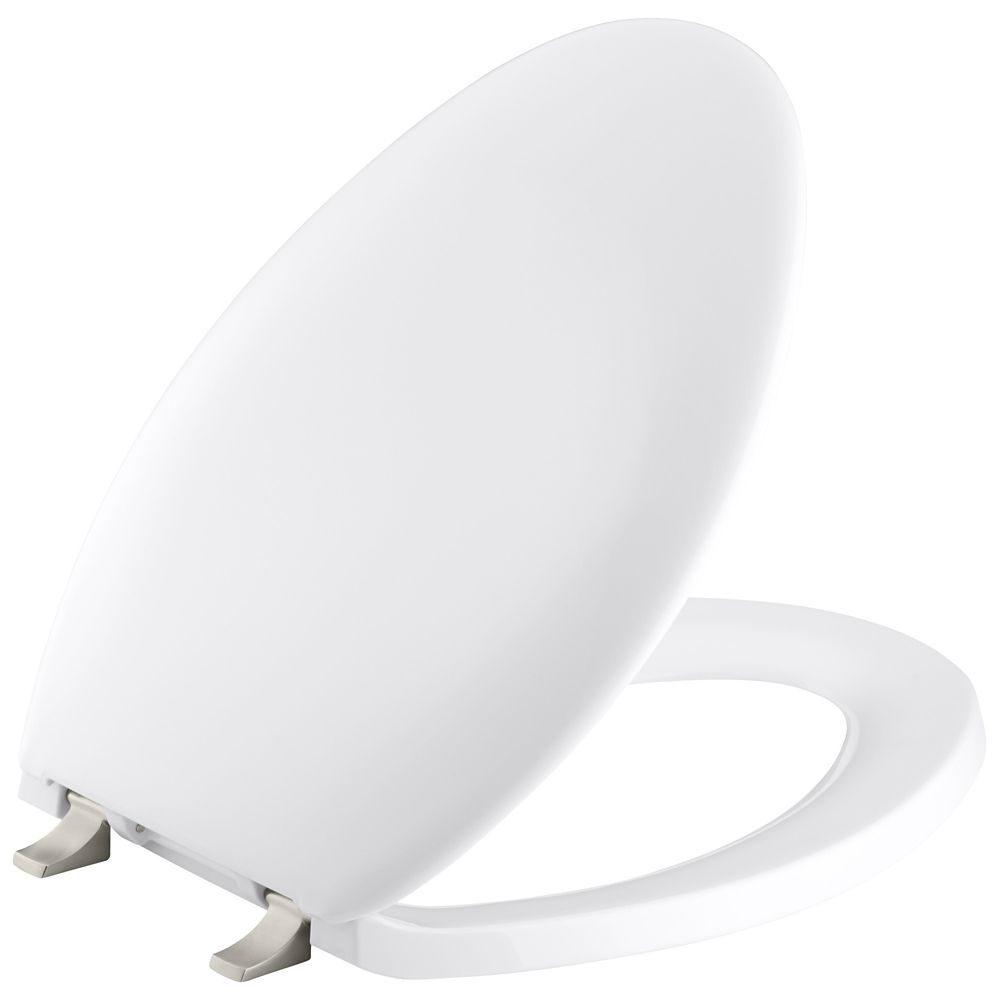 Bancroft Elongated Toilet Seat in White K-4685-BN-0 Canada Discount