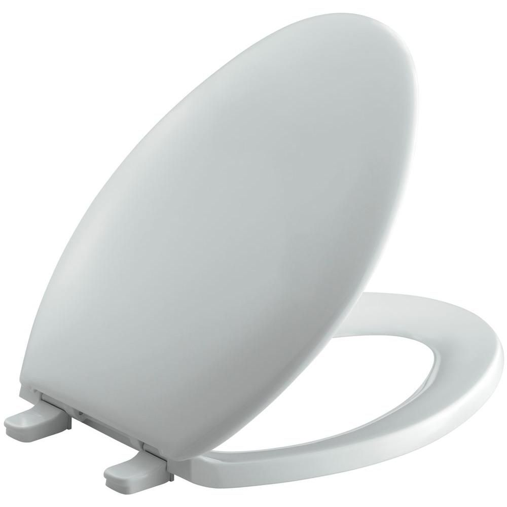 Bancroft Elongated Toilet Seat in Ice Grey