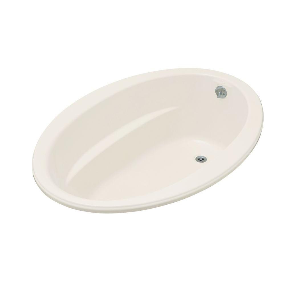 KOHLER Sunward 5 Feet Acrylic Drop-in Non Whirlpool Bathtub in Biscuit