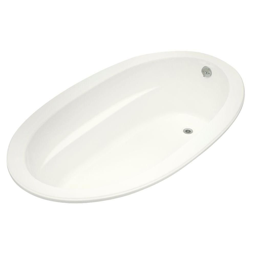 Sunward<sup>®</sup> 6 Feet Acrylic Drop-in Non Whirlpool Bathtub in White
