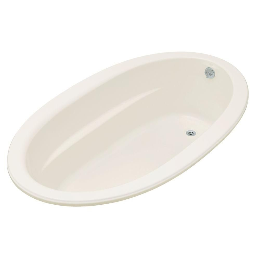 Sunward<sup>®</sup> 6 Feet Acrylic Drop-in Non Whirlpool Bathtub in Biscuit